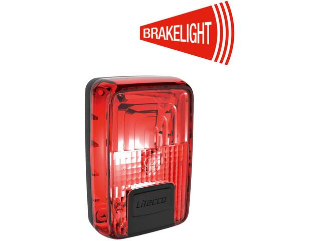 Litecco G-Ray Luz trasera con función de luz de freno, black/red